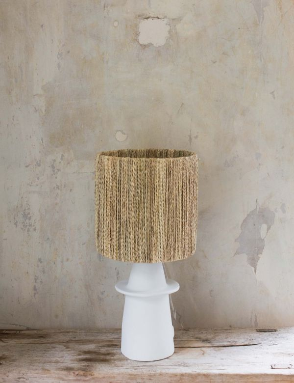 Ceramic & Rattan Table Lamp