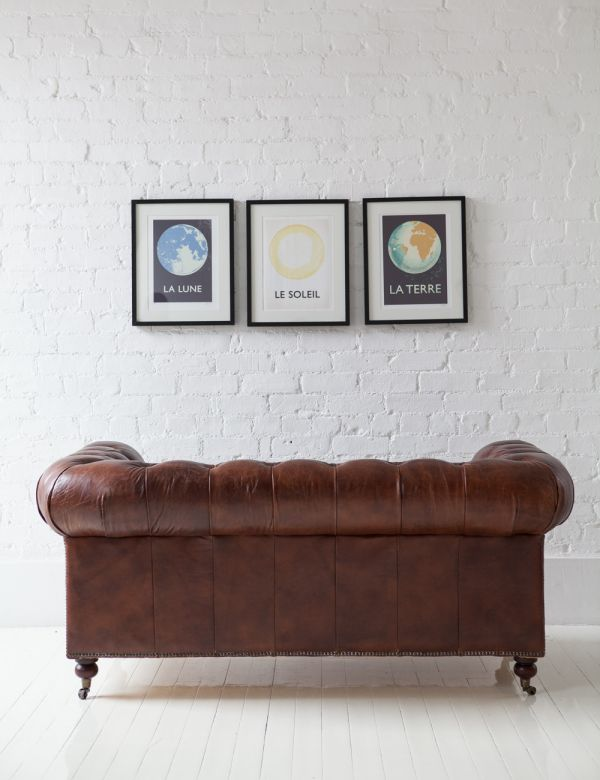 Vintage Leather Chesterfield - 2 Seater
