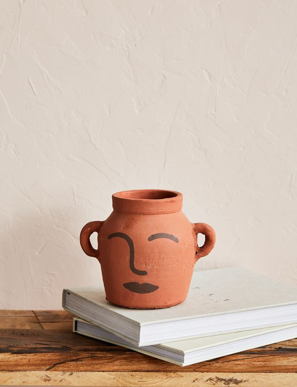 Clay Pot with Face
