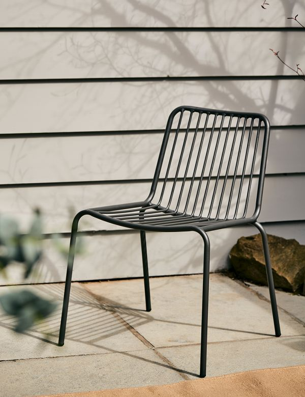 Copenhagen Black Outdoor Chair - without arms