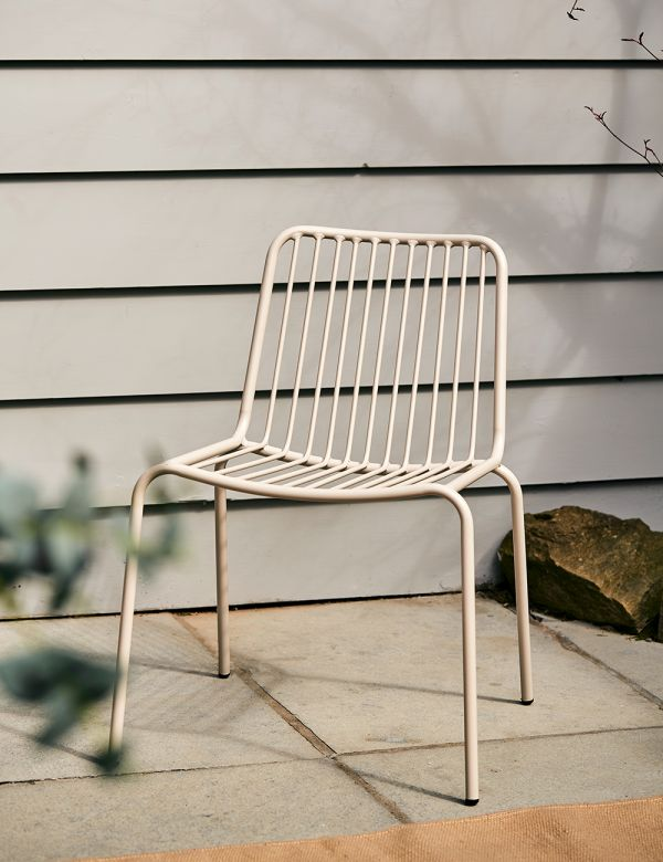 Copenhagen Taupe Outdoor Chair - without arms