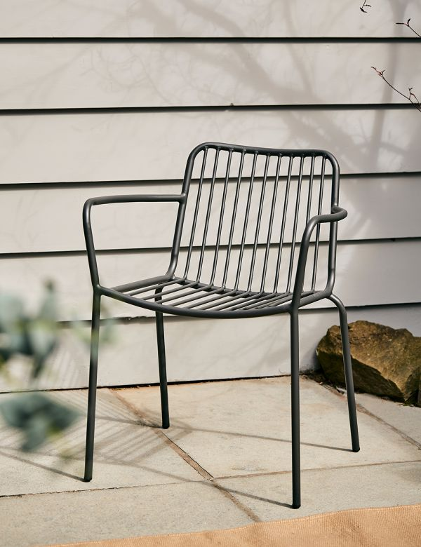 Copenhagen Black Outdoor Chair - with arms