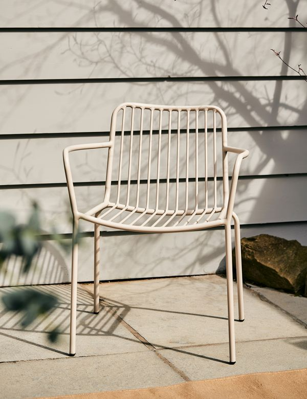 Copnehagen Taupe Outdoor Chair - with arms