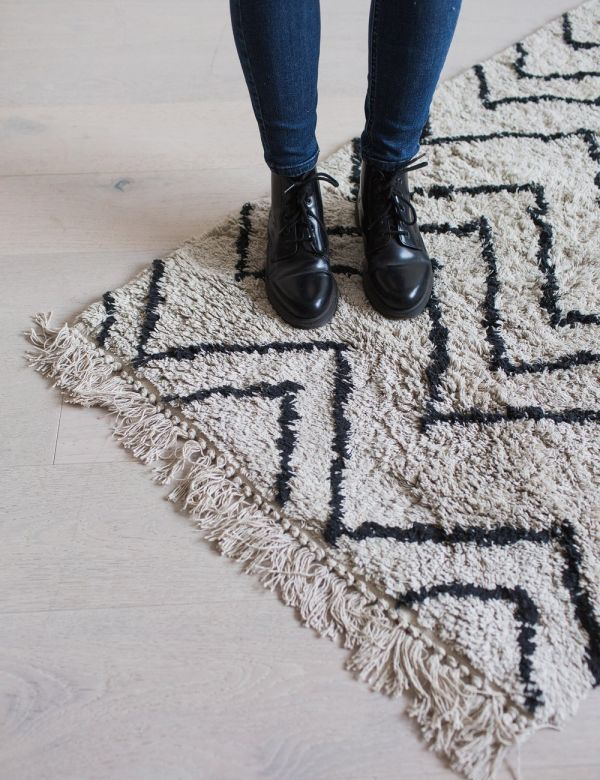 Cotton Zigzag Runner Rug