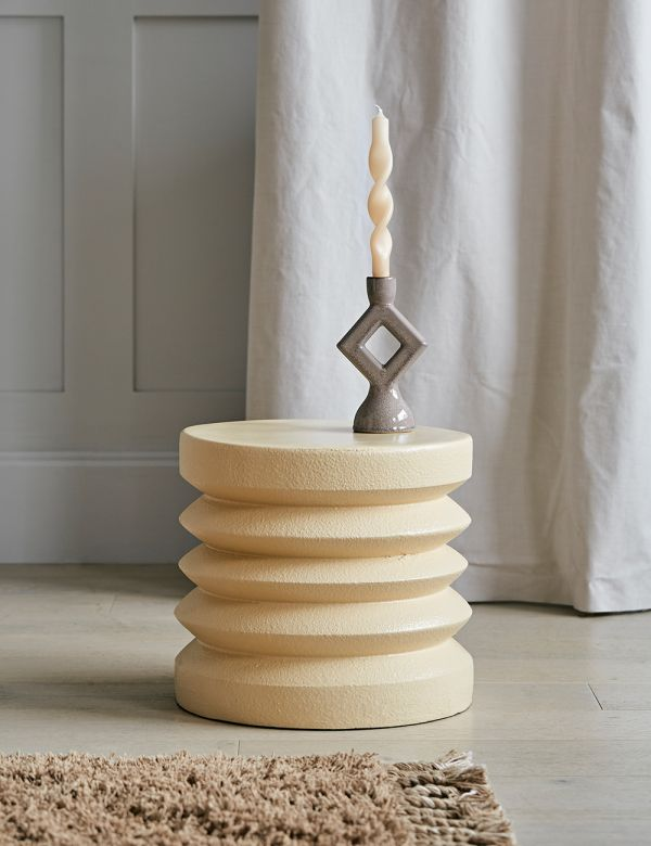 Dana Stoneware Stacked Side Table