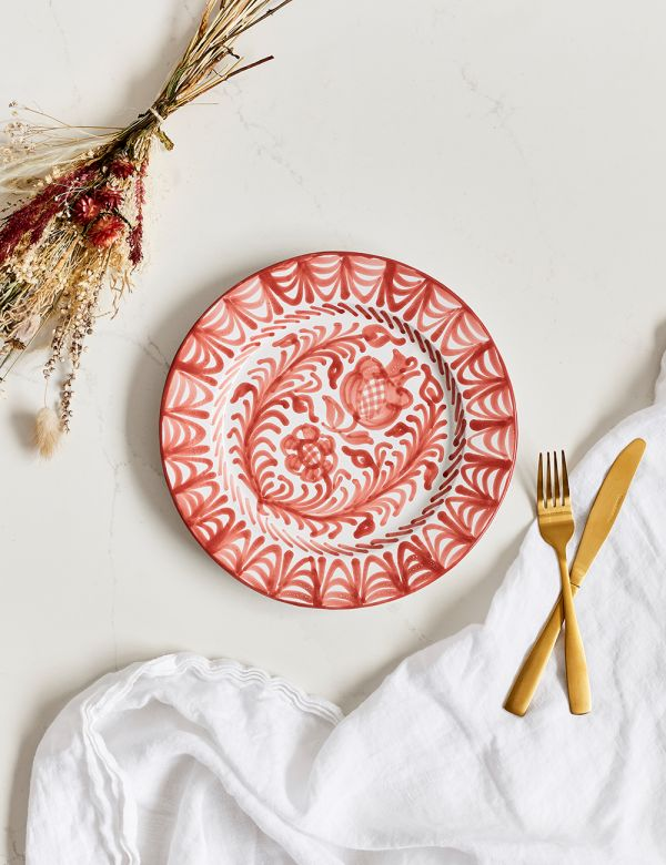 Decorative Dinner Plate - Coral
