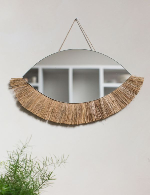 Decorative Grass Mirror