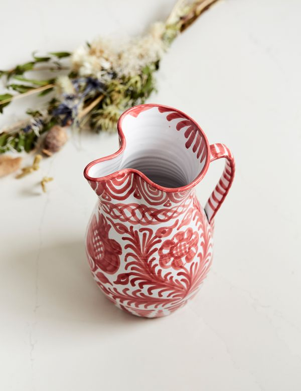 Decorative Jug - Coral