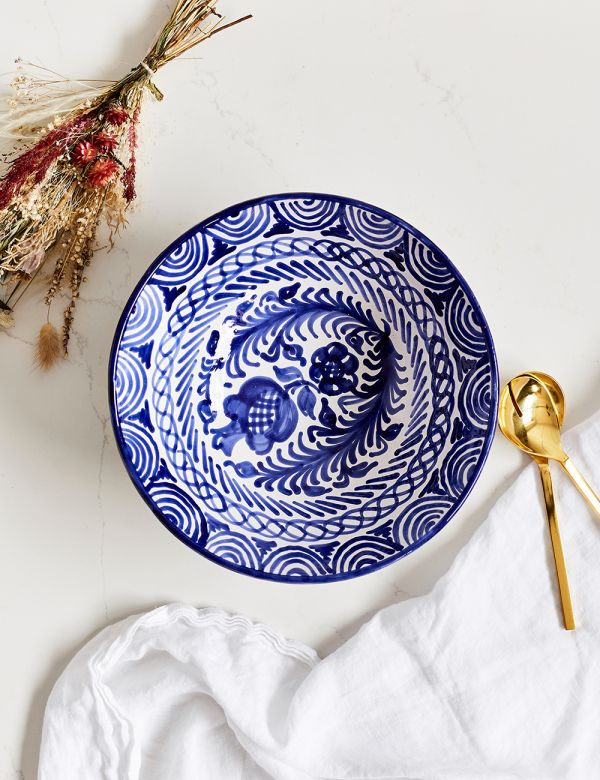 Decorative Salad Bowl - Azul