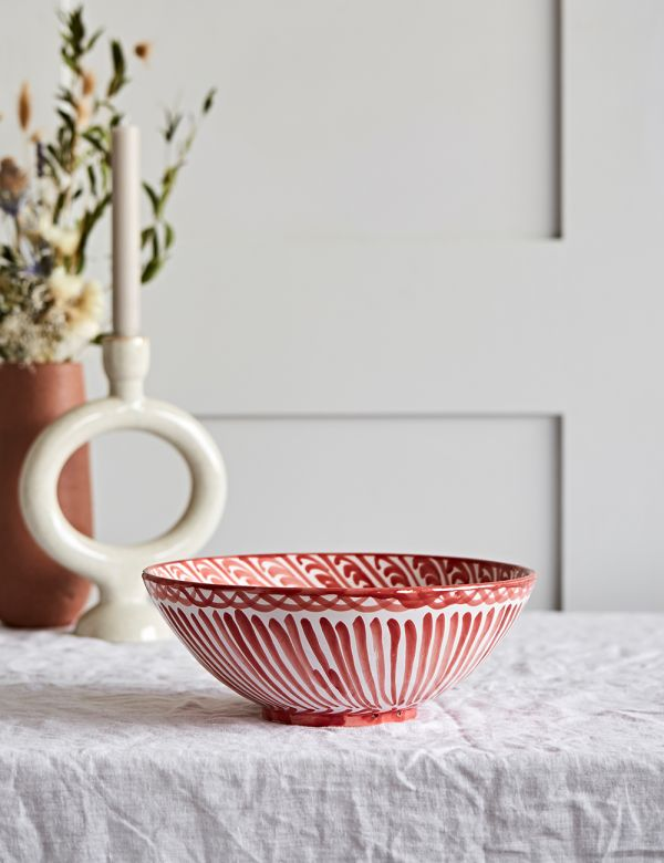 Decorative Salad Bowl - Coral
