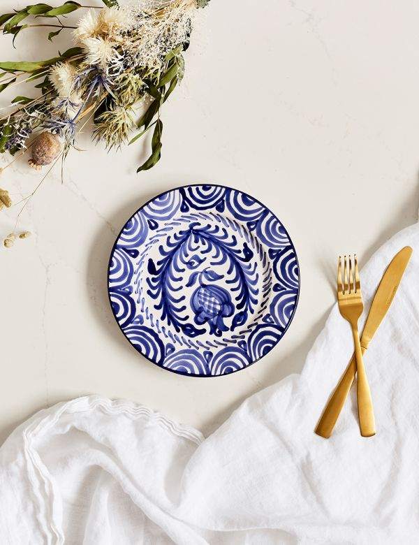 Decorative Side Plate - Azul
