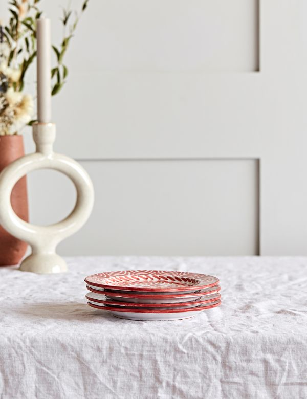 Decorative Side Plate - Coral