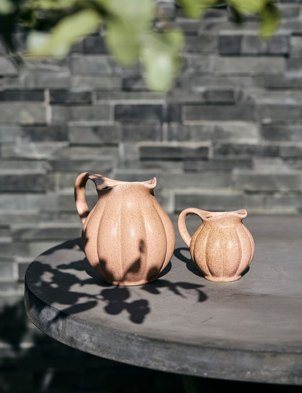 Dusty Rose Stoneware Jug - Two Sizes Available