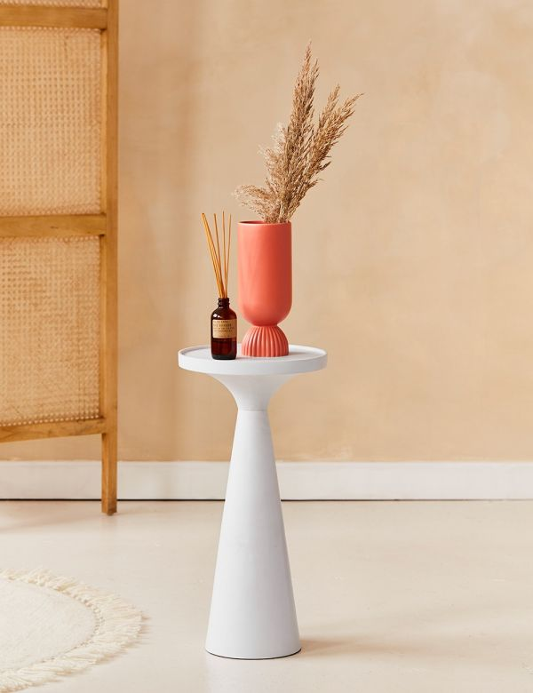 Ella Slim White Side Table