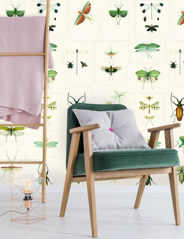 Mind The Gap Wallpaper Collection - Entomology Green