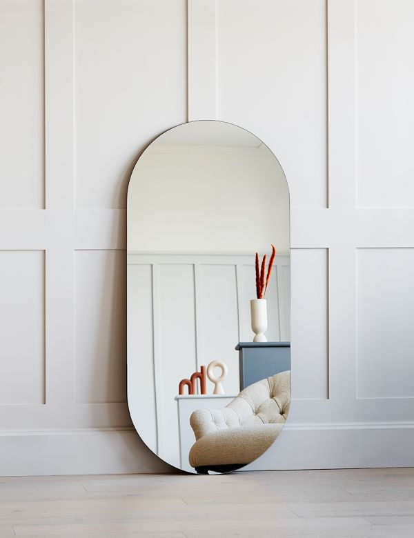 Extra Large Minimal Oval Mirror