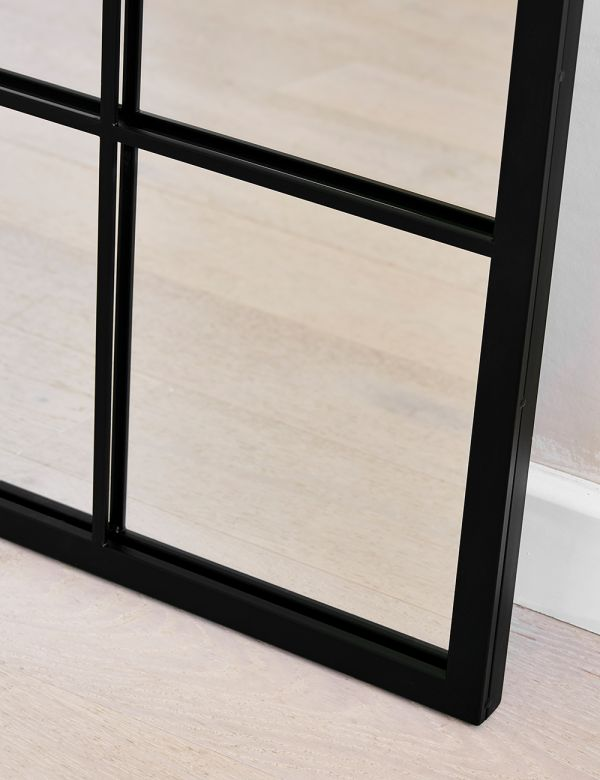 Large Rectangular Paned Mirror