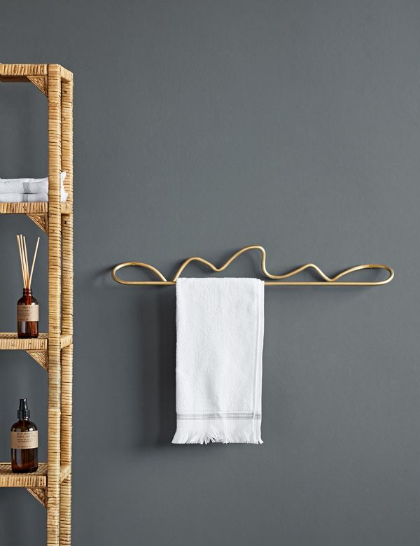 Ferm Living Curvature Brass Towel Hanger