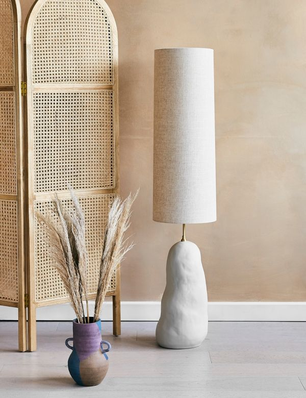 Ferm Living Hebe Large Natural Floor Lamp
