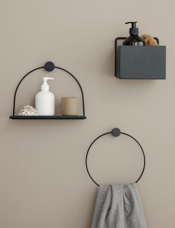 Ferm Living Black Towel Hanger