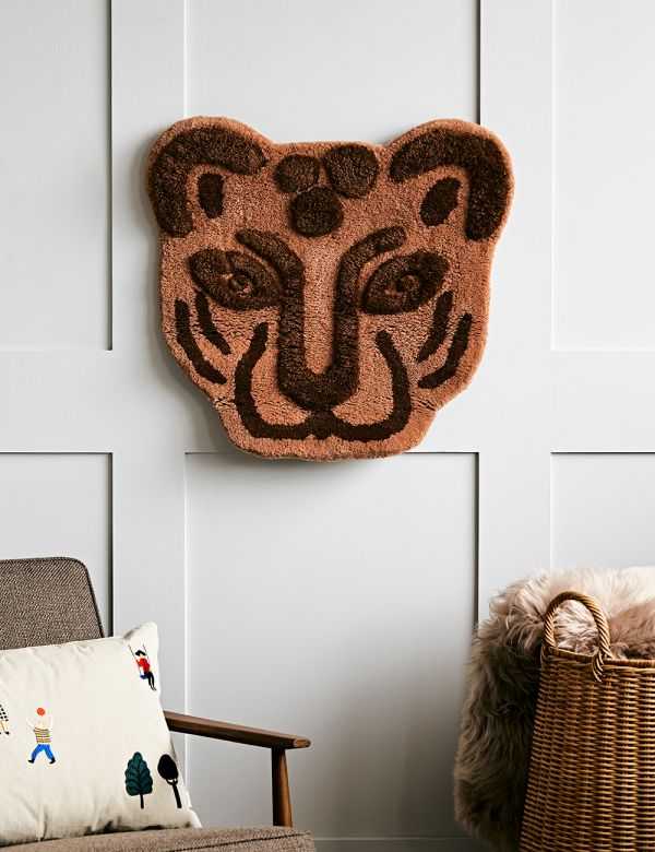 Ferm Living Tufted Leopard Head Rug/Wall Hanging