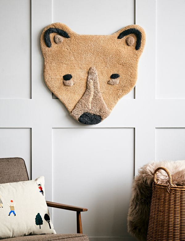 Ferm Living Tufted Polar Bear Head Rug/Wall Hanging