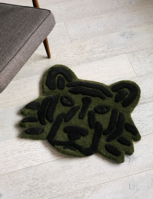 Ferm Living Tufted Tiger Head Rug/Wall Hanging