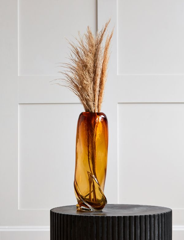 Ferm Living Water Swirl Tall Vase - Amber