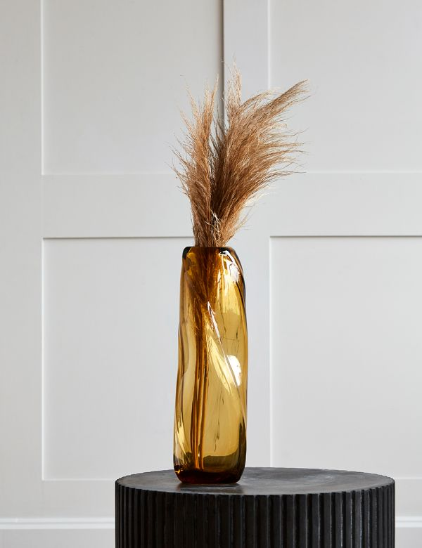 Ferm Living Water Swirl Tall Vase - Yellow