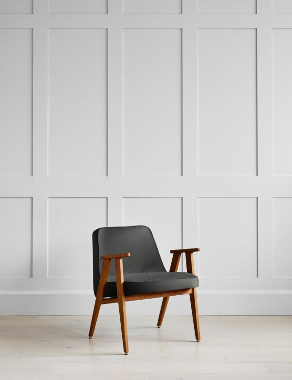Jozef Chierowski 366 Easy Chair in Graphite Velvet