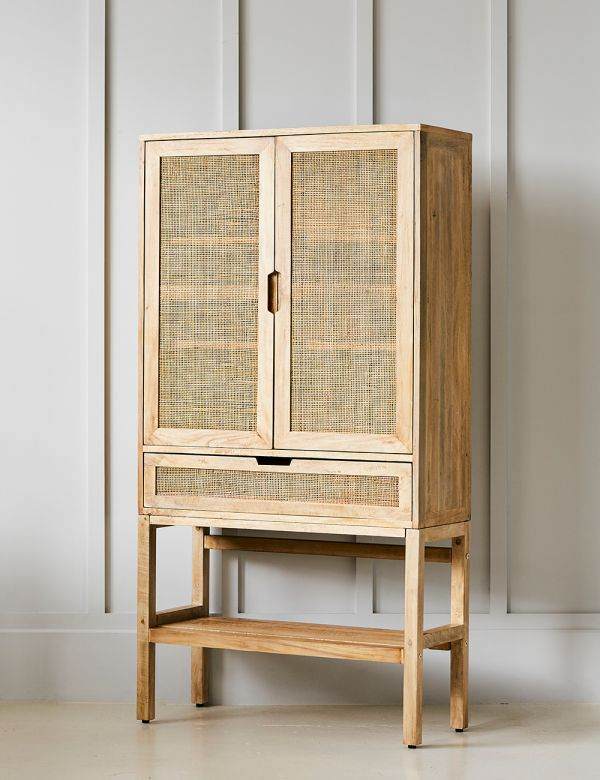 Rattan Webbed Drinks Cabinet