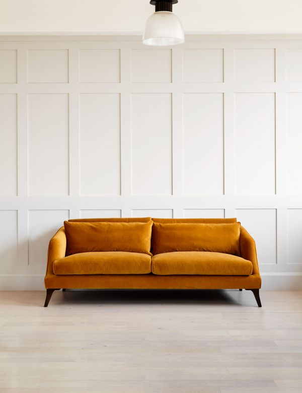 Dylan Sofa 3 seater in cord honey