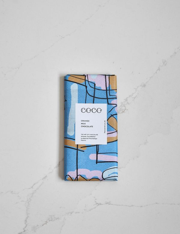 Coco Chocolate Bar Milk Chocolate Orange