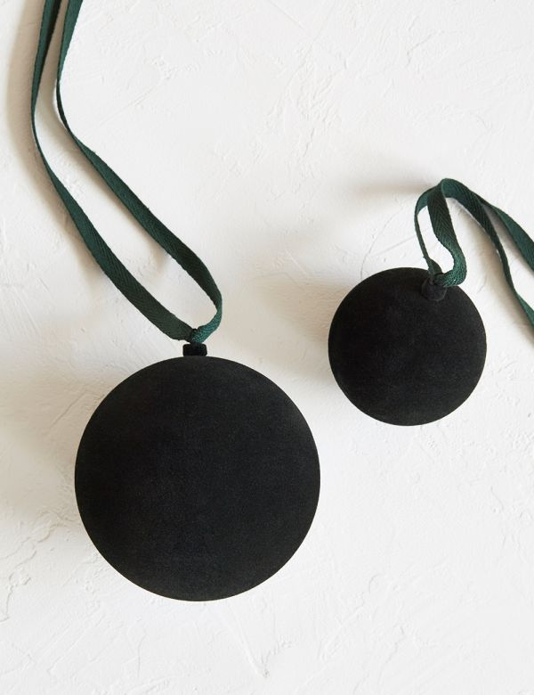 Forest Green Velvet Bauble - Two Sizes Available