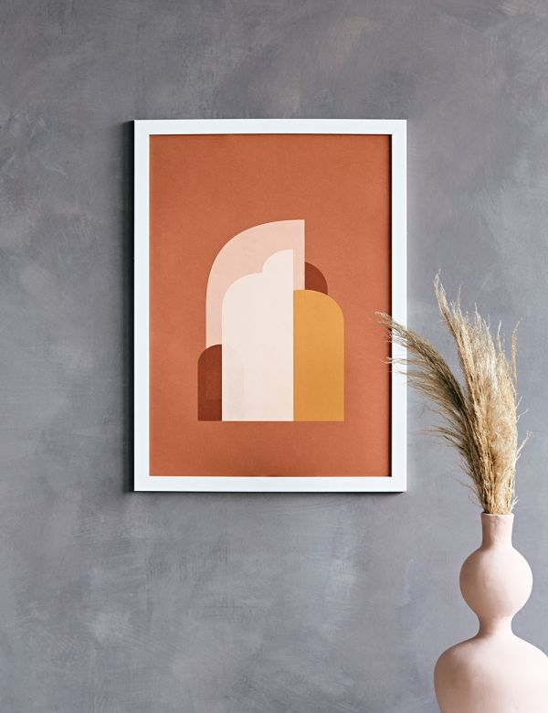 Forn Studio Print - Abstract Composition on Terracotta 50 x 70cm