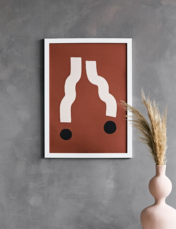 Forn Studio Print - Lines on Terracotta 50 x 70cm