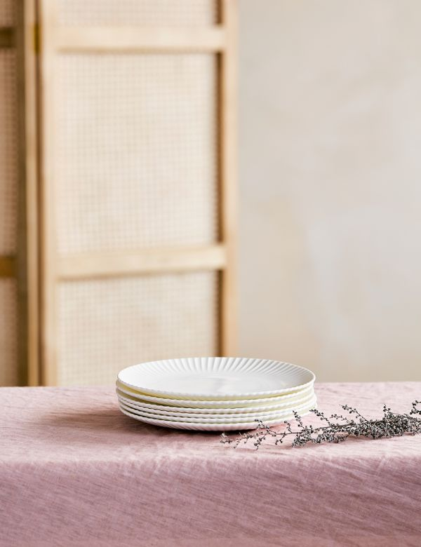 Frances White Scalloped Side Plate