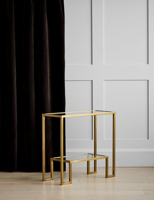Gabrielle Small Brass & Glass Console