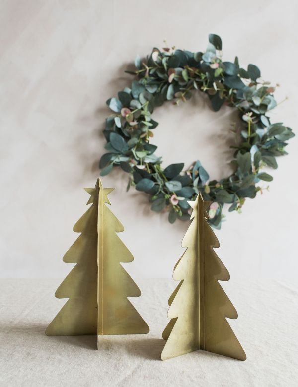 Gold Christmas Tree Two Sizes Available Rose Grey