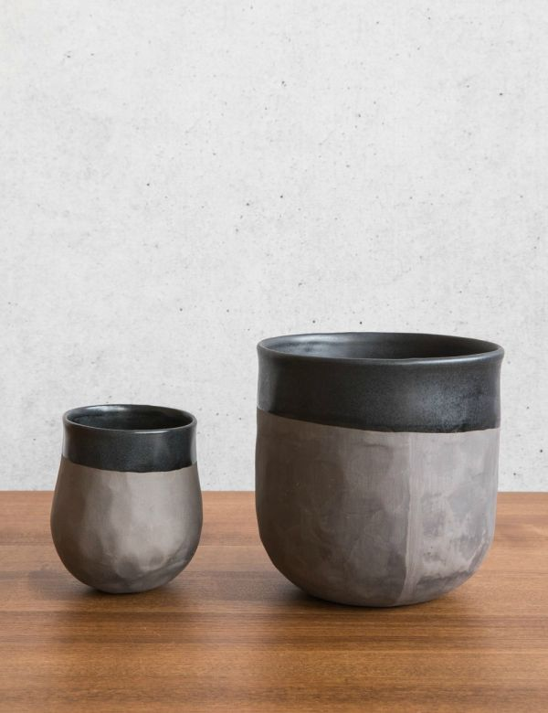 Grey Ceramic Planter - Two Sizes Available