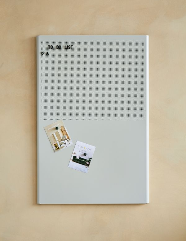 Grey Metal Grid Noticeboard