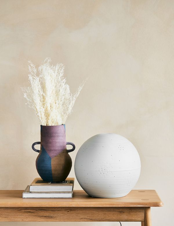 Grey Porcelain Planetarium Table Lamp