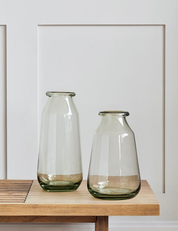 Handblown Recycled Glass Vase - Two Sizes Available