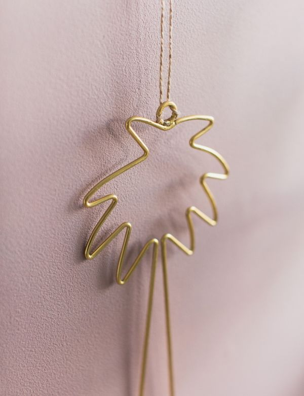 Hanging Gold Palm Tree Outline Decoration