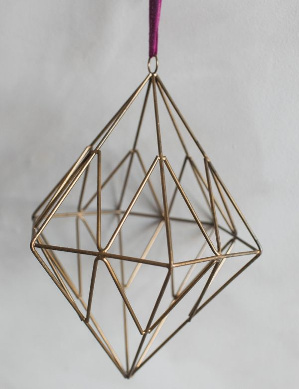 Hanging Wire Talini Diamond Decoration - Two Sizes Available