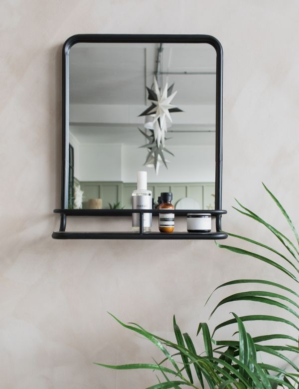 Hildia Black Mirror With Shelf