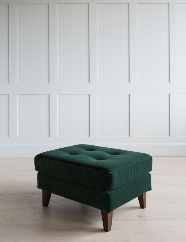 Kingston Button-and-Stud Footstool