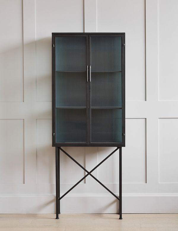 Kyoto Glass & Metal Cabinet