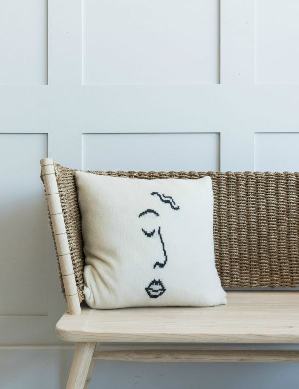Large Face Print Cushion
