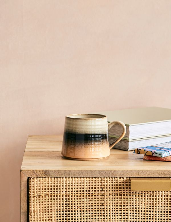 Large Retro Tan Mug